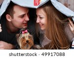close up of young couple in love | Shutterstock . vector #49917088