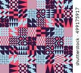 mosaic seamless pattern design... | Shutterstock . vector #499175917