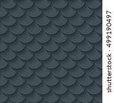 dark gray fish scale seamless...   Shutterstock .eps vector #499190497