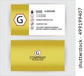 red vector modern gold creative ... | Shutterstock .eps vector #499199407
