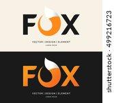 the inscription fox  modern...   Shutterstock .eps vector #499216723