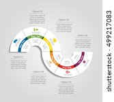 infographic design template... | Shutterstock .eps vector #499217083
