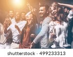 they love dancing. group of... | Shutterstock . vector #499233313