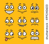 cartoon faces set | Shutterstock .eps vector #499240603