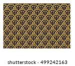 triquetra symbol abstract... | Shutterstock .eps vector #499242163