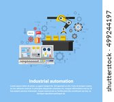 industrial automation industry... | Shutterstock .eps vector #499244197
