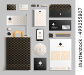 corporate identity template in... | Shutterstock .eps vector #499255807