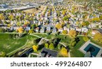 aerial view of residential...   Shutterstock . vector #499264807