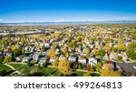 aerial view of residential... | Shutterstock . vector #499264813