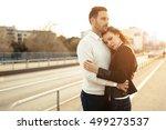 beautiful couple bonding... | Shutterstock . vector #499273537