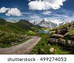 swiss beauty  schreckhorn and...   Shutterstock . vector #499274053