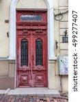 Old Wooden Door. Weathered...