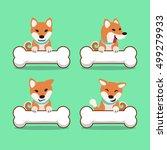 cartoon character shiba inu dog ...   Shutterstock .eps vector #499279933