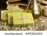 collection of handmade  natural ... | Shutterstock . vector #499281043