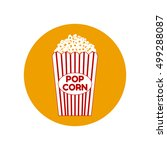 popcorn bag icon | Shutterstock .eps vector #499288087