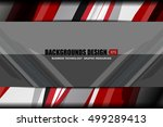 business geometric abstract... | Shutterstock .eps vector #499289413