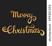 christmas typography. merry... | Shutterstock . vector #499301353