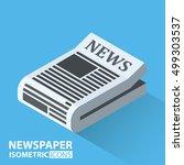 isometric icon. news