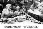 group of senior retirement meet ... | Shutterstock . vector #499330237