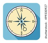 compasses flat icons. vector...   Shutterstock .eps vector #499330927