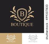 luxury logo concept boutique... | Shutterstock .eps vector #499337833