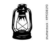 lantern. antique old kerosene...   Shutterstock .eps vector #499338193