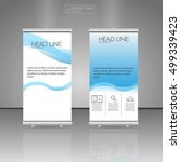 roll up banner stand. vector.... | Shutterstock .eps vector #499339423