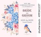 vintage wedding invitation | Shutterstock .eps vector #499341157
