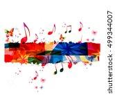 creative music template vector... | Shutterstock .eps vector #499344007