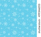 seamless winter pattern with... | Shutterstock .eps vector #499346053