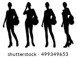 woman silhouettes   Shutterstock .eps vector #499349653