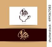coffee logotype. coffee... | Shutterstock .eps vector #499367083