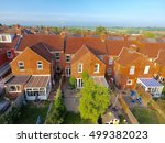 aerial view of garden and roof... | Shutterstock . vector #499382023