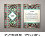 flyer template with abstract...   Shutterstock .eps vector #499384843
