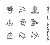 thin line icons set about... | Shutterstock .eps vector #499388683