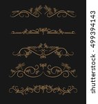 vector text dividers with gold... | Shutterstock .eps vector #499394143