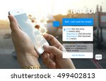 chat bot and future marketing... | Shutterstock . vector #499402813