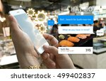 chat bot and future marketing... | Shutterstock . vector #499402837