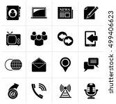 black media and communication... | Shutterstock .eps vector #499406623