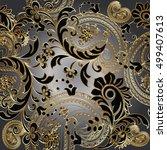 paisleys  elegant floral vector ... | Shutterstock .eps vector #499407613