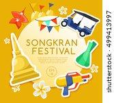 songkran festival   thai water... | Shutterstock .eps vector #499413997
