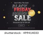 black friday super sale vector... | Shutterstock .eps vector #499414033