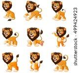 Vector Illustration Of  Lion...