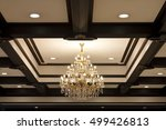 chandelier with downlight and... | Shutterstock . vector #499426813
