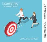 flat 3d isometric business... | Shutterstock .eps vector #499436917