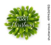 merry christmas card template... | Shutterstock .eps vector #499436983