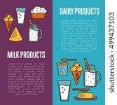 milk products vertical flyers... | Shutterstock .eps vector #499437103