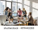 teamwork discussion meeting... | Shutterstock . vector #499443283