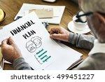 retirement financial plan risk...   Shutterstock . vector #499451227