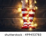 merry christmas and happy... | Shutterstock . vector #499453783